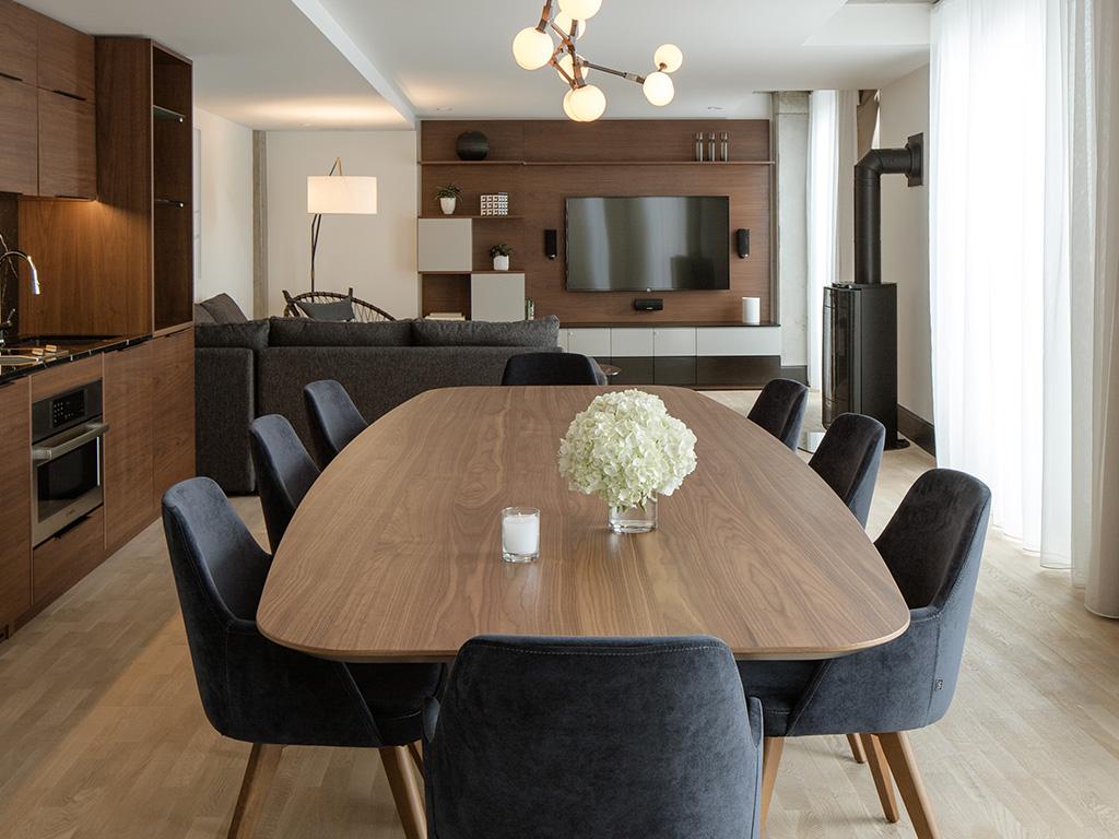 Une table dans la Résidence de l'Hôtel William Gray