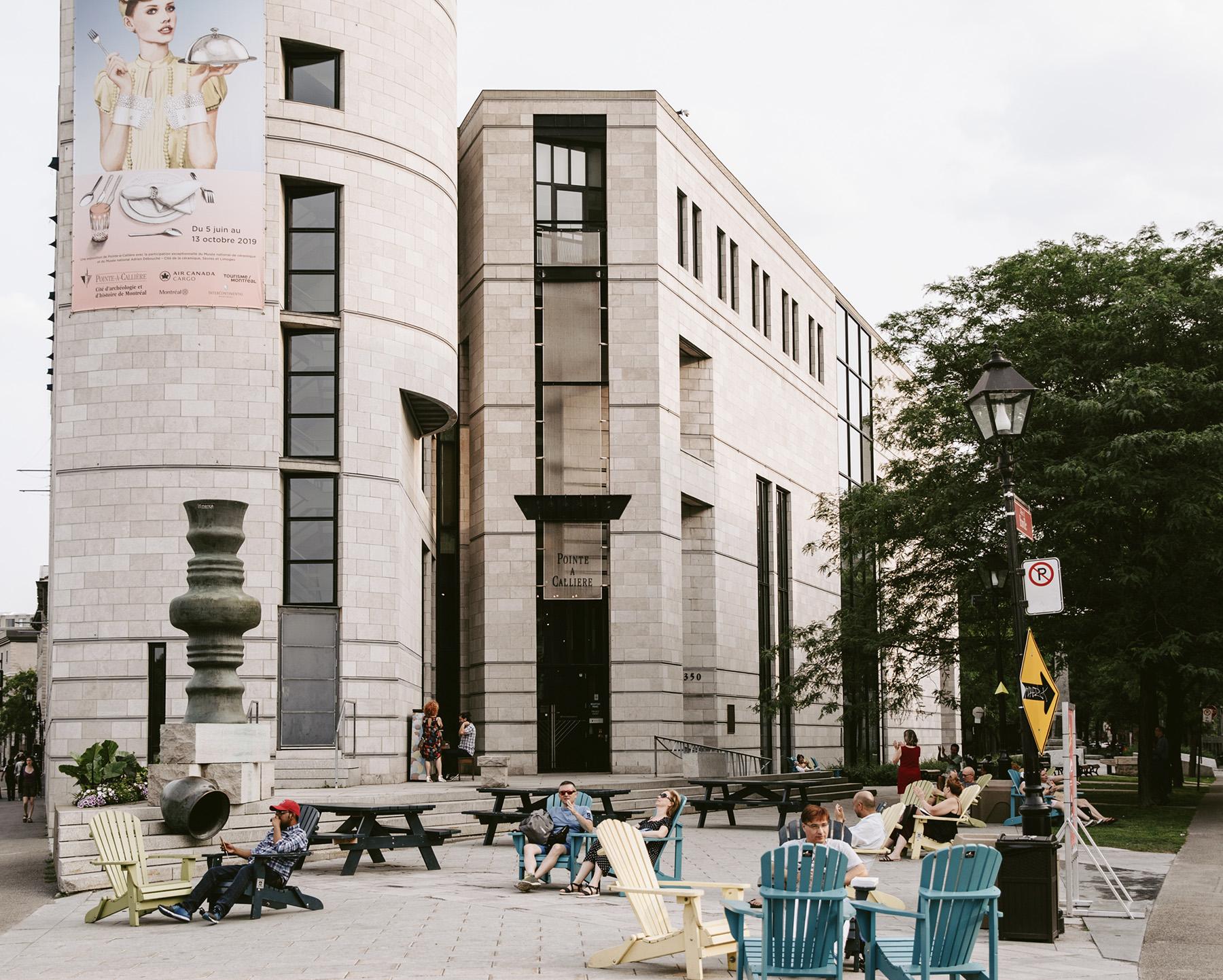 Musée Pointe-à-Callière vu de l'extérieur