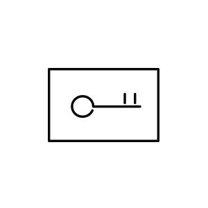 Pictogramme d'une carte de chambre