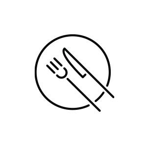 Pictogramme assiette et couverts