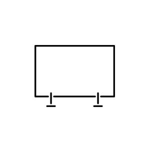 Pictogramme d'un panneau en Plexiglas