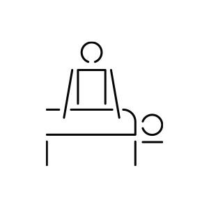Pictogramme d'un individu en massant un autre